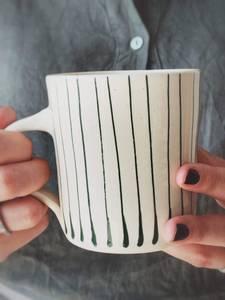 Bilde av Grønn Striper - Kaffe Krus
