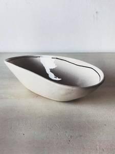 Bilde av Sort stripe - Oval Skål